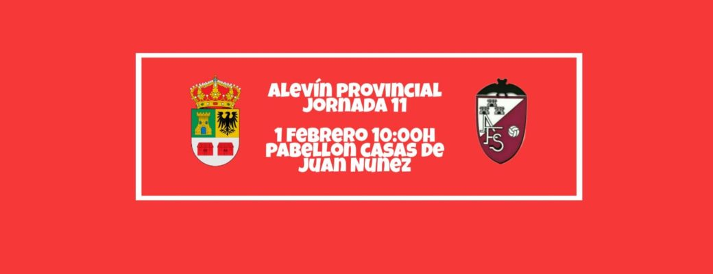 El Alevin Se Enfrenta A Casas De Juan Nuñez.