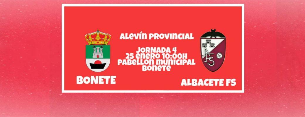 El Alevin Se Enfrenta A Bonete, En Partido Aplazado.