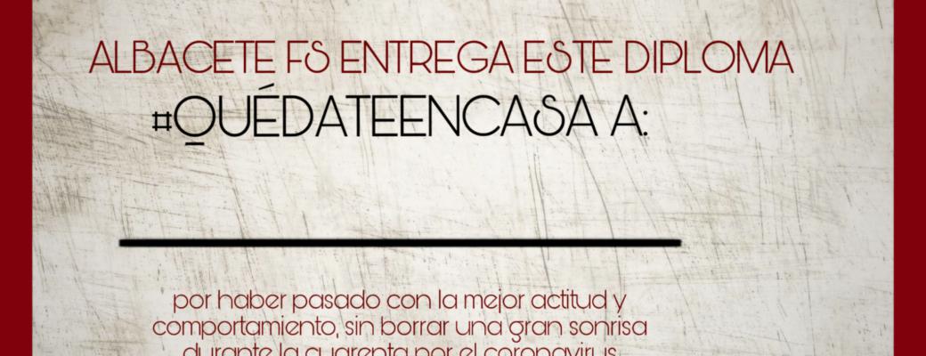 Diploma #QuédateEnCasa Para Los Más Pequeños De La Casa
