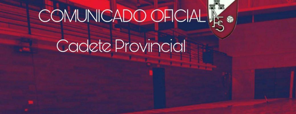 COMUNICADO OFICIAL. La Temporada Que Viene También Tendremos Equipo En La Liga Cadete Provincial.