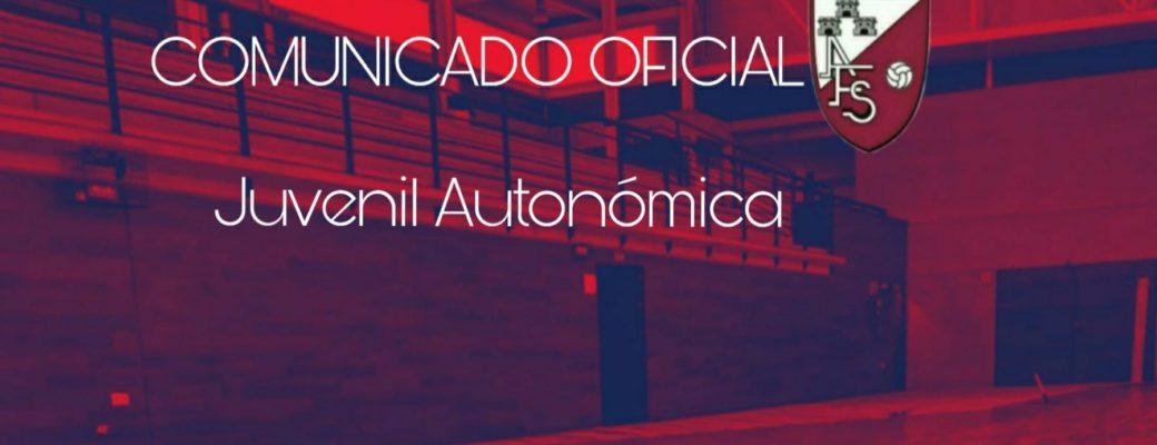 COMUNICADO OFICIAL. El Club Solicitara Plaza En La Categoría Juvenil Autonómica Para La Próxima Temporada.